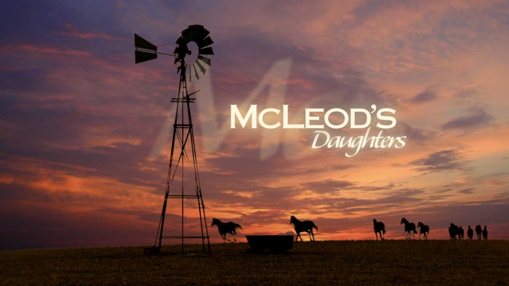 McLeods Daughters opening titles - the windmill and wild horses on Drovers Run