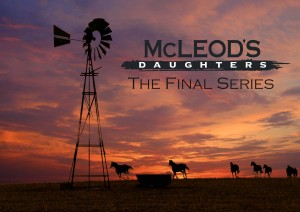 This image of wild horses running past the McLeods windmill against a flaming sunset was shot during the first week of the first series. It became indelibly associated with the series
