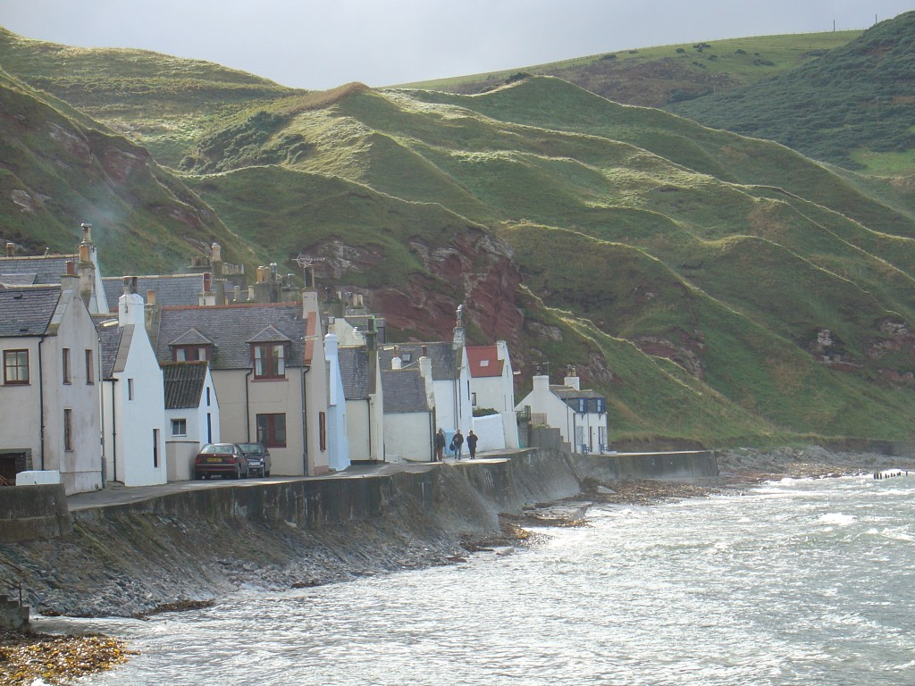 Seafront cottages at Pennan in NE Scotland